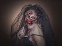 Sposa dello zombie Fotografia Stock