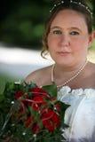 Sposa di cerimonia nuziale con gli occhi piacevoli Immagini Stock Libere da Diritti