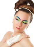 Sposa di cerimonia nuziale concept.woman con trucco creativo Immagini Stock