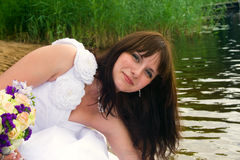 Sposa di Portraite Fotografia Stock