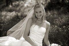 Sposa di seduta Fotografie Stock Libere da Diritti