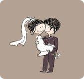 Sposa di trasporto dello sposo Fotografie Stock Libere da Diritti
