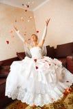 Sposa e petails Fotografie Stock