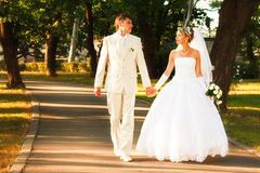 Sposa e sposo Fotografia Stock