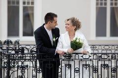 Sposa e sposo Immagini Stock Libere da Diritti