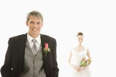 Sposa e sposo. Fotografia Stock