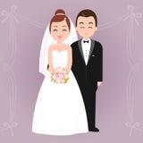 Sposa e sposo illustrazione vettoriale