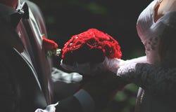 Sposa e sposo Immagine Stock