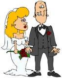 Sposa e sposo illustrazione di stock