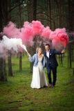 Sposa e sposo al giorno delle nozze fotografia stock