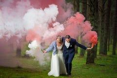 Sposa e sposo al giorno delle nozze immagini stock libere da diritti