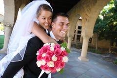 Sposa e sposo alla cerimonia nuziale Immagini Stock