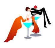 Sposa e sposo divertenti Immagini Stock