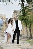 Sposa e sposo esterni Immagine Stock Libera da Diritti