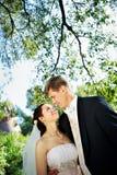Sposa e sposo felici Immagini Stock Libere da Diritti