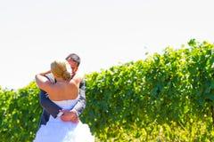 Sposa e sposo First Look Fotografia Stock Libera da Diritti
