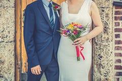 Sposa e sposo insieme immagini stock