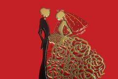 Sposa e sposo, statuetta di nozze Fotografia Stock