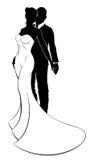 Sposa e sposo Wedding Silhouette Immagini Stock Libere da Diritti