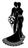 Sposa e sposo Wedding Silhouette Fotografie Stock