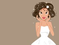 Sposa felice Immagini Stock