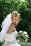 Sposa felice Fotografia Stock Libera da Diritti