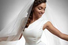 Sposa felice di dancing Immagini Stock