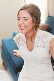 Sposa felice di risata Fotografia Stock