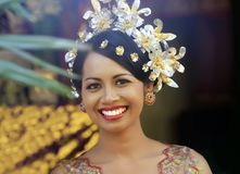 Sposa felice indonesiana Fotografie Stock Libere da Diritti