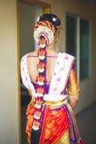 Sposa indiana in un saree di nozze fotografie stock