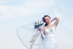 Sposa meravigliosa e romantica Fotografie Stock