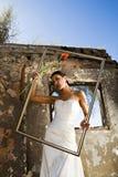 Sposa nella cornice Fotografia Stock Libera da Diritti
