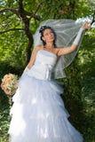 Sposa nella sosta Fotografia Stock Libera da Diritti