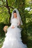 Sposa nella sosta Fotografie Stock