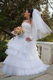 Sposa nella sosta Immagini Stock Libere da Diritti