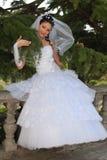 Sposa nella sosta Fotografie Stock Libere da Diritti