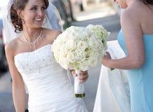 Sposa sorridente immagine stock