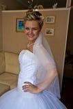 Sposa sorridente felice Fotografie Stock
