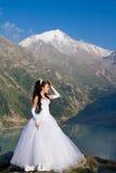 Sposa sposata della donna immagine stock