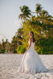 Sposa sulla spiaggia Fotografia Stock