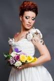 Sposa tatuaata Immagini Stock Libere da Diritti