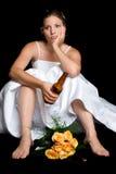 Sposa triste Fotografia Stock Libera da Diritti