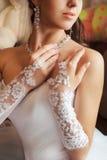 Sposa in un vestito dal progettista Immagini Stock Libere da Diritti
