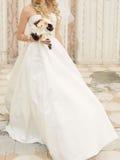 Sposa in vento Fotografia Stock Libera da Diritti