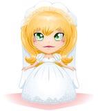 Sposa vestita per il suo giorno delle nozze 3 Fotografie Stock