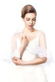 Sposa in vestito da sposa. Fotografia Stock