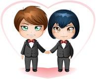 Sposarsi degli sposi del gay Fotografia Stock