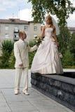 Sposato appena. Immagine Stock