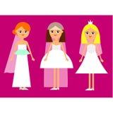 Spose della ragazza del fumetto royalty illustrazione gratis