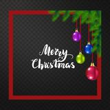 Sposi cartolina d'auguri del nuovo anno e di Natale - vector l'illustrazione fotografia stock libera da diritti